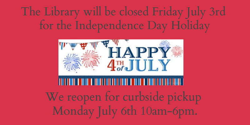 Closed July 3rd for July 4th holiday