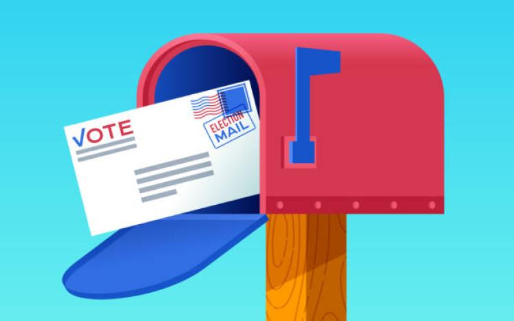 Vote by mail clipart