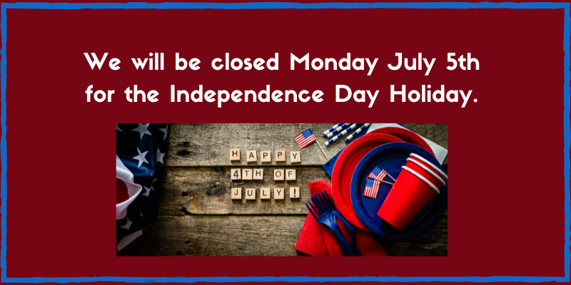 library closed on July 5th