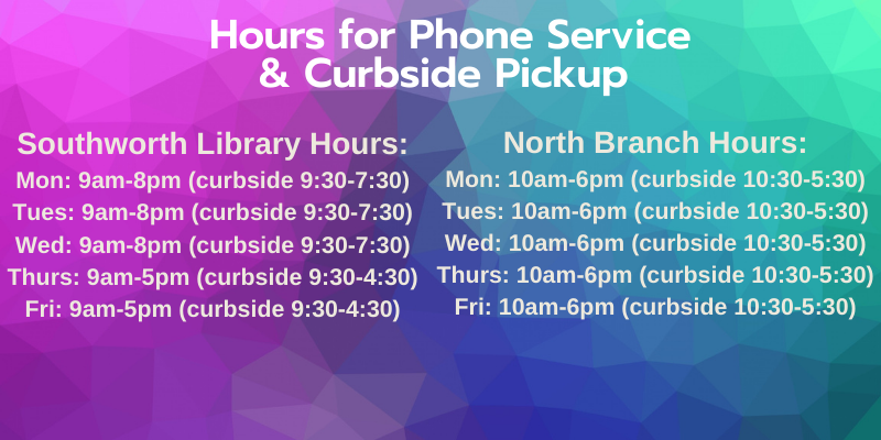 Curbside hours starting 9-22-20