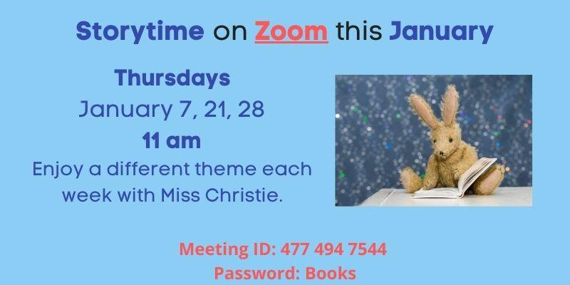Storytime on Zoom starts January 7th