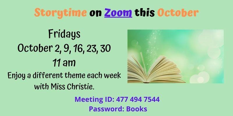 Storytime on Zoom this October