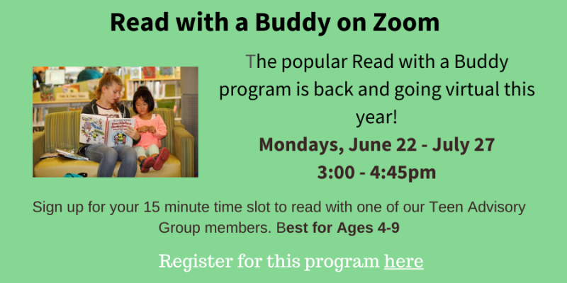 Read with a Buddy on Mondays, June 22-July 27
